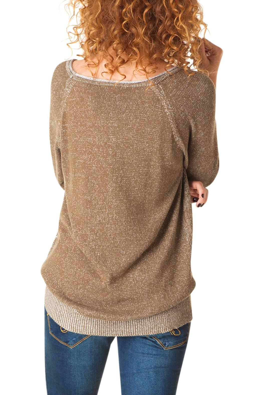 Yest Linear Knit Sweater - Front Full Image