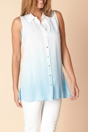 Yest Button Down Sleeveless Blouse - Product Mini Image