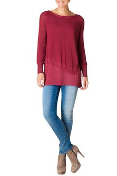 Shoptiques Product: Magenta Sweater Blouse