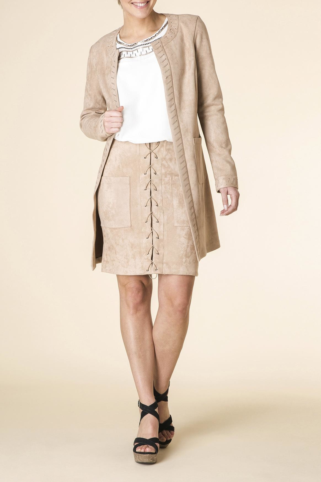 Yest Micro-Suede Jacket - Main Image