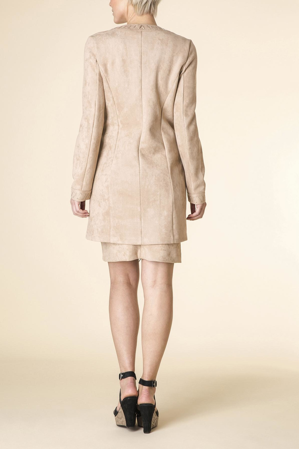 Yest Micro-Suede Jacket - Front Full Image