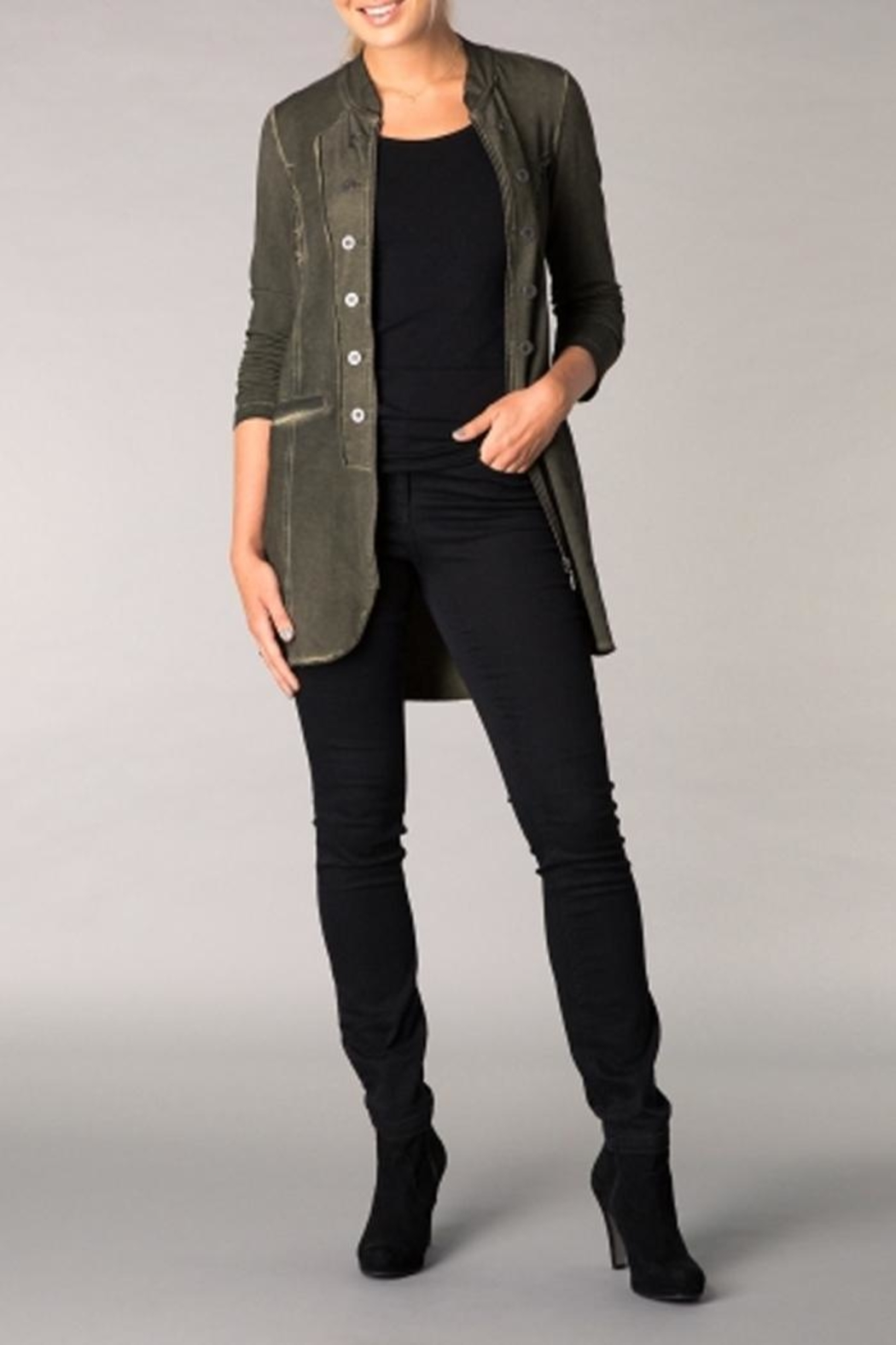 Yest Military Style Jacket - Front Cropped Image