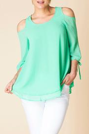 Yest Open Shoulder Blouse - Product Mini Image