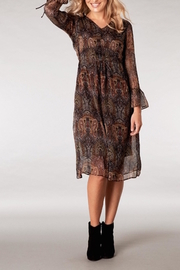 Yest Paisley Chiffon Dress - Front full body