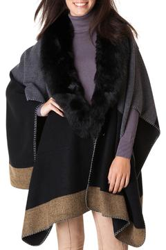 Shoptiques Product: Patchwork Fur Poncho