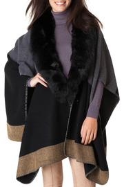 Yest Patchwork Fur Poncho - Product Mini Image