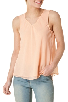 Shoptiques Product: Peach Sleeveless Blouse