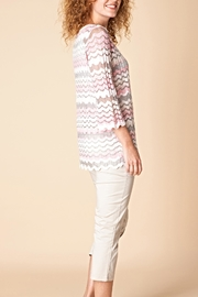 Yest Pink Swirl Sweater Top - Front full body