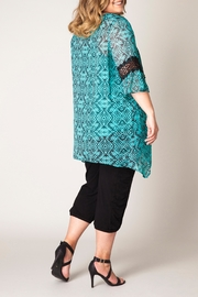Yest Printed Tunic Top - Front full body