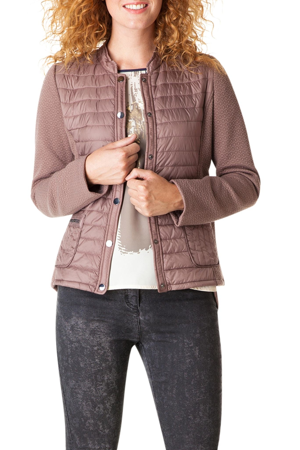 Yest Quilted Zip Jacket - Main Image