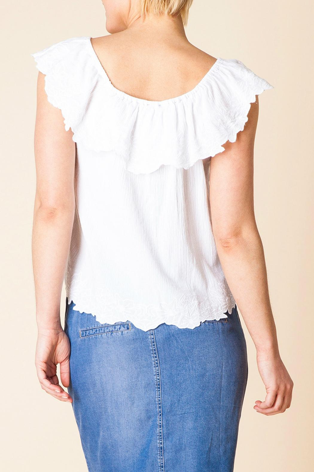 Yest Ruffle Shoulder Top - Side Cropped Image