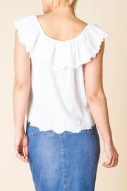 Yest Ruffle Shoulder Top - Side cropped