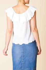 Yest Ruffle Shoulder Top - Front full body
