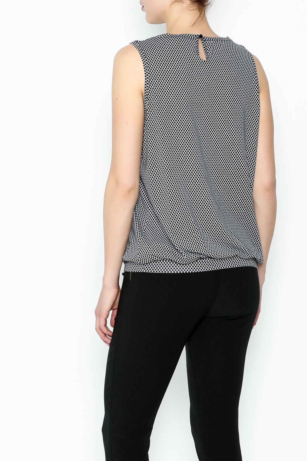 Yest Sleeveless Banded Top - Back Cropped Image