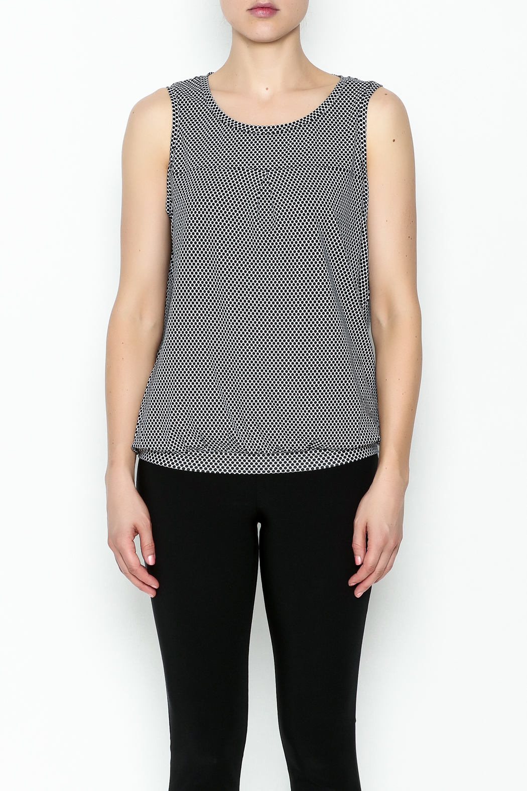Yest Sleeveless Banded Top - Front Full Image