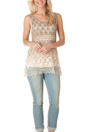 Yest Sleeveless Crochet Top - Front cropped