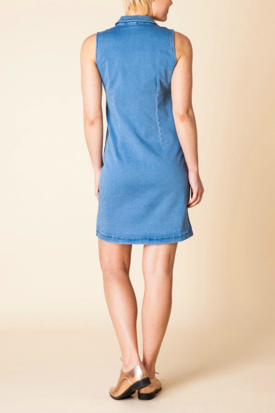 Yest Sleeveless Denim Dress - Side Cropped Image