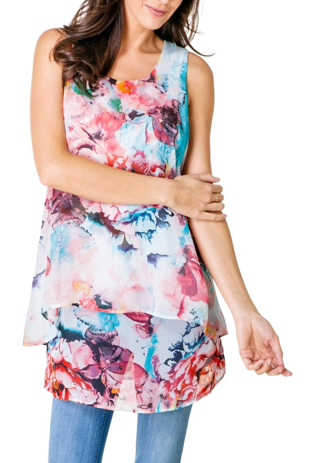 Yest Sleeveless Floral Blouse - Main Image