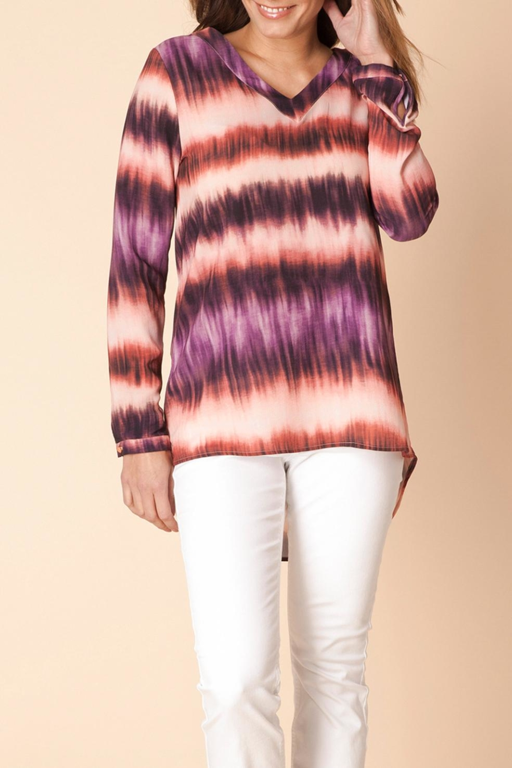 Yest Stripe Autumn Shirt - Front Cropped Image