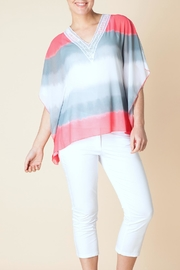 Yest Stripe Silky Poncho - Product Mini Image