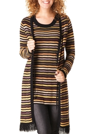 Yest Striped Long Cardigan - Product Mini Image