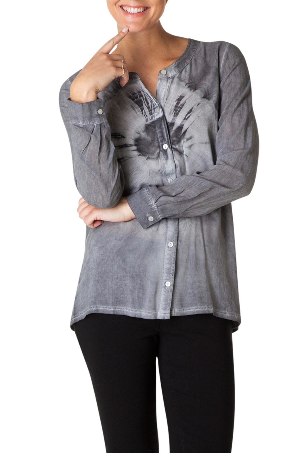 Yest Tie Dye Button Blouse - Main Image