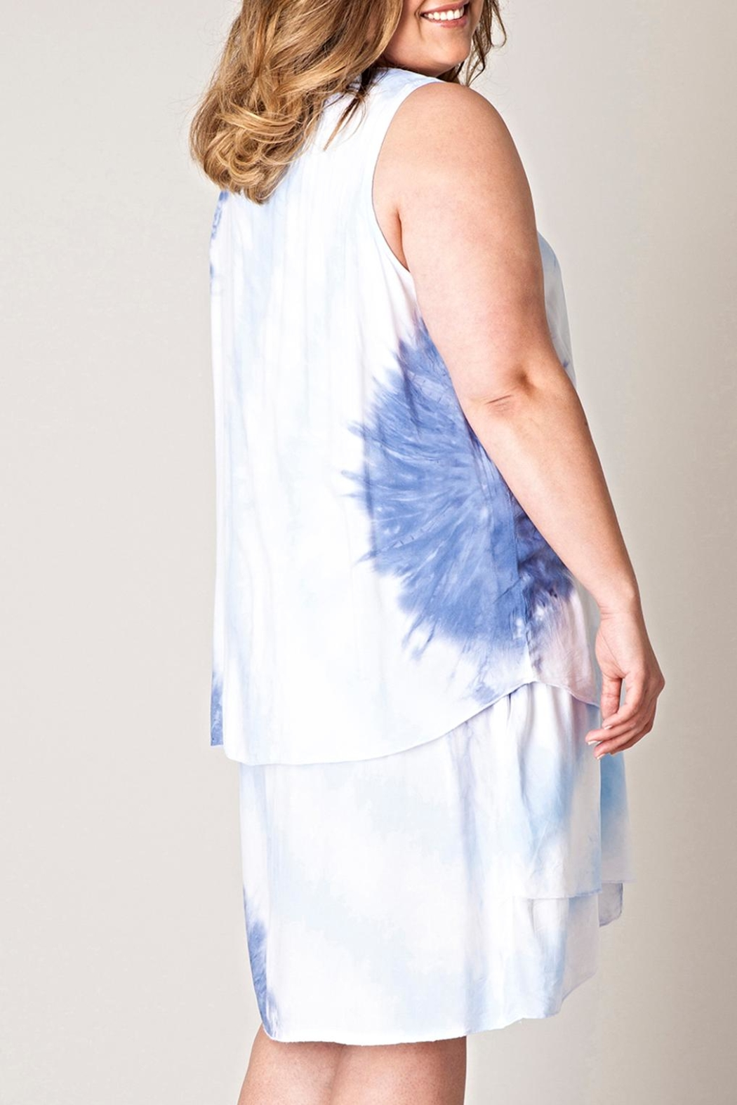 Yest Tiedye Layered Dress - Front Full Image