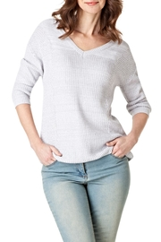 Yest Waffleknit v-Neck Sweater - Product Mini Image