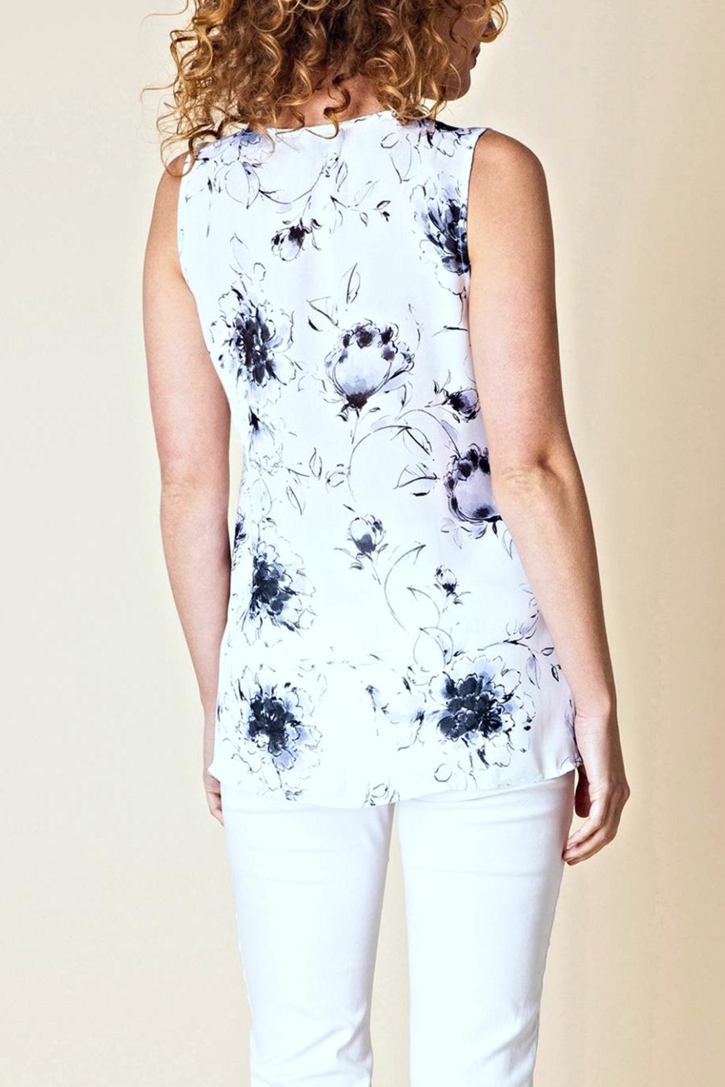 Yest Whimsical Floral Blouse - Front Full Image