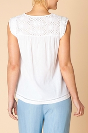 Yest White Eyelet Top - Front full body