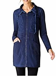 YEST of Holland Blue Lace Jacket - Front cropped