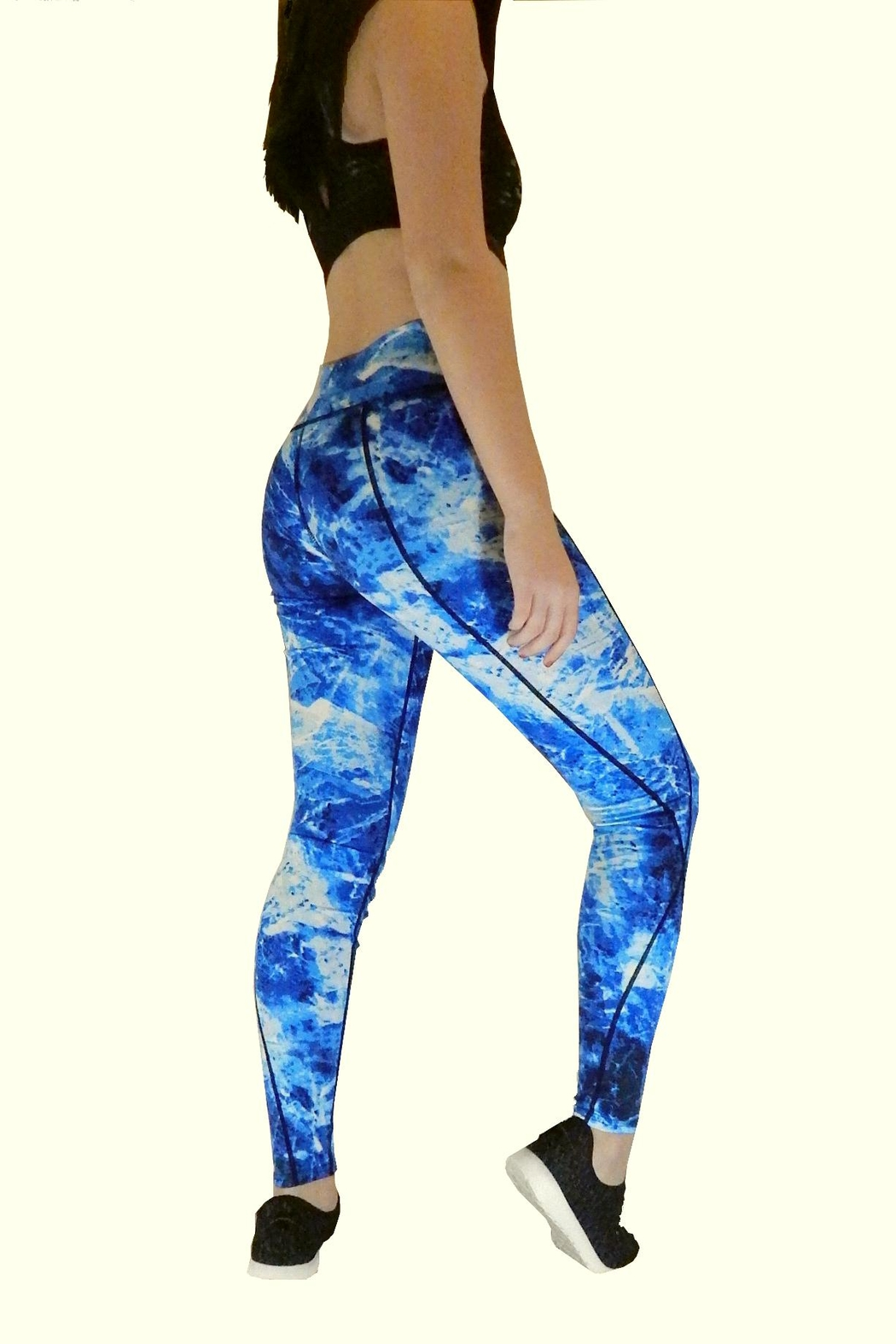 Yi Tong Active Athletic Leggings - Front Full Image
