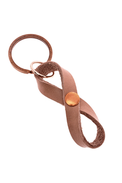 Shoptiques Product: Leather Infinity Keychain