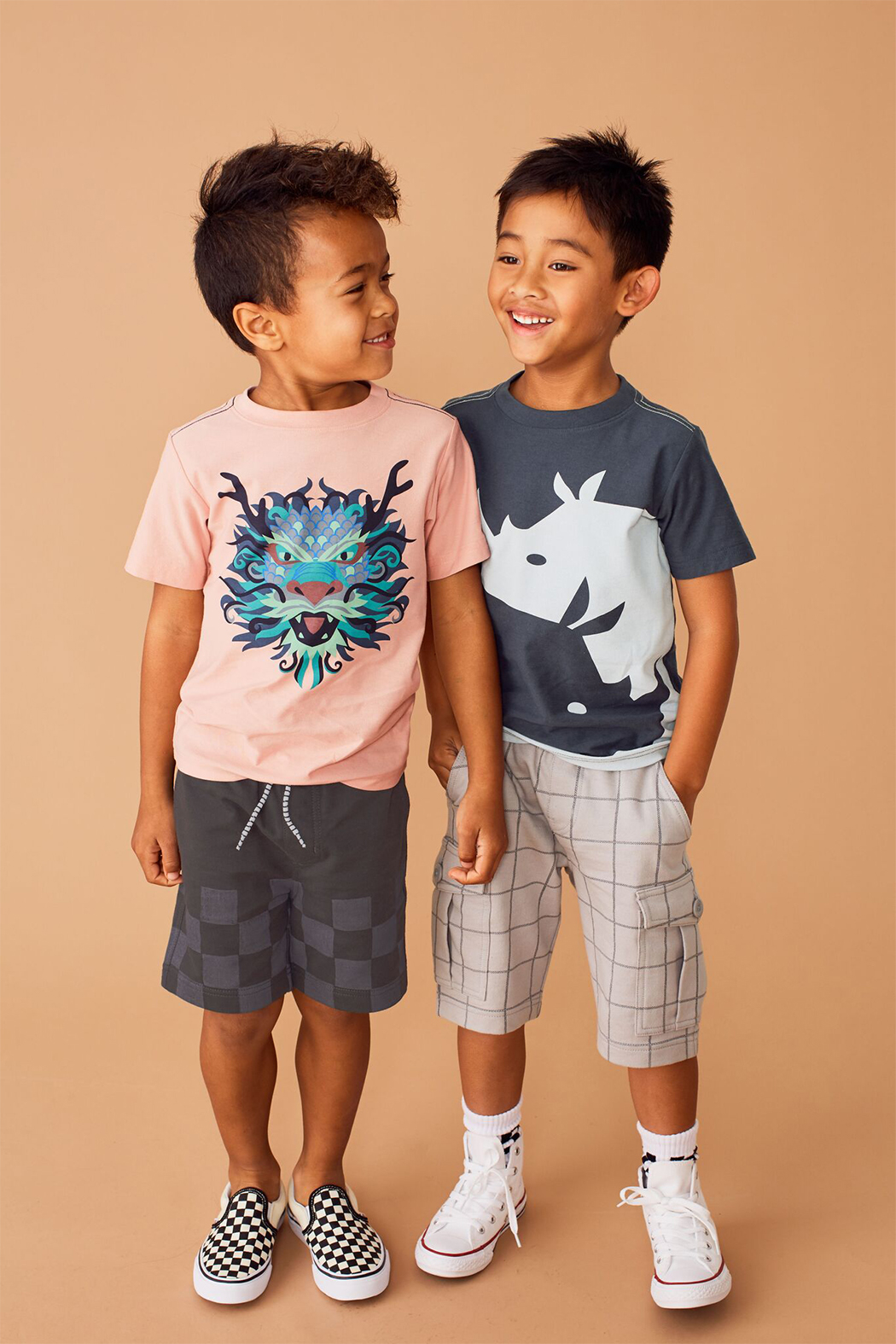 Tea Collection Ying Yang Rhino Graphic Tee - Side Cropped Image