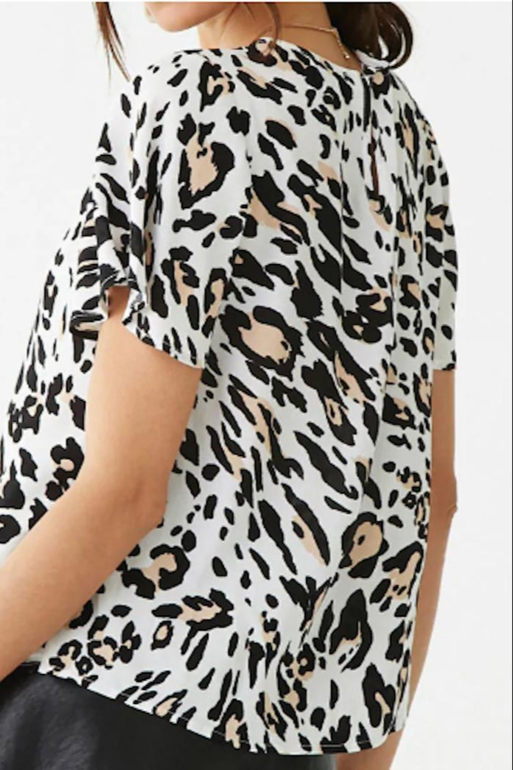 Yipsy Animal Print Top - Side Cropped Image