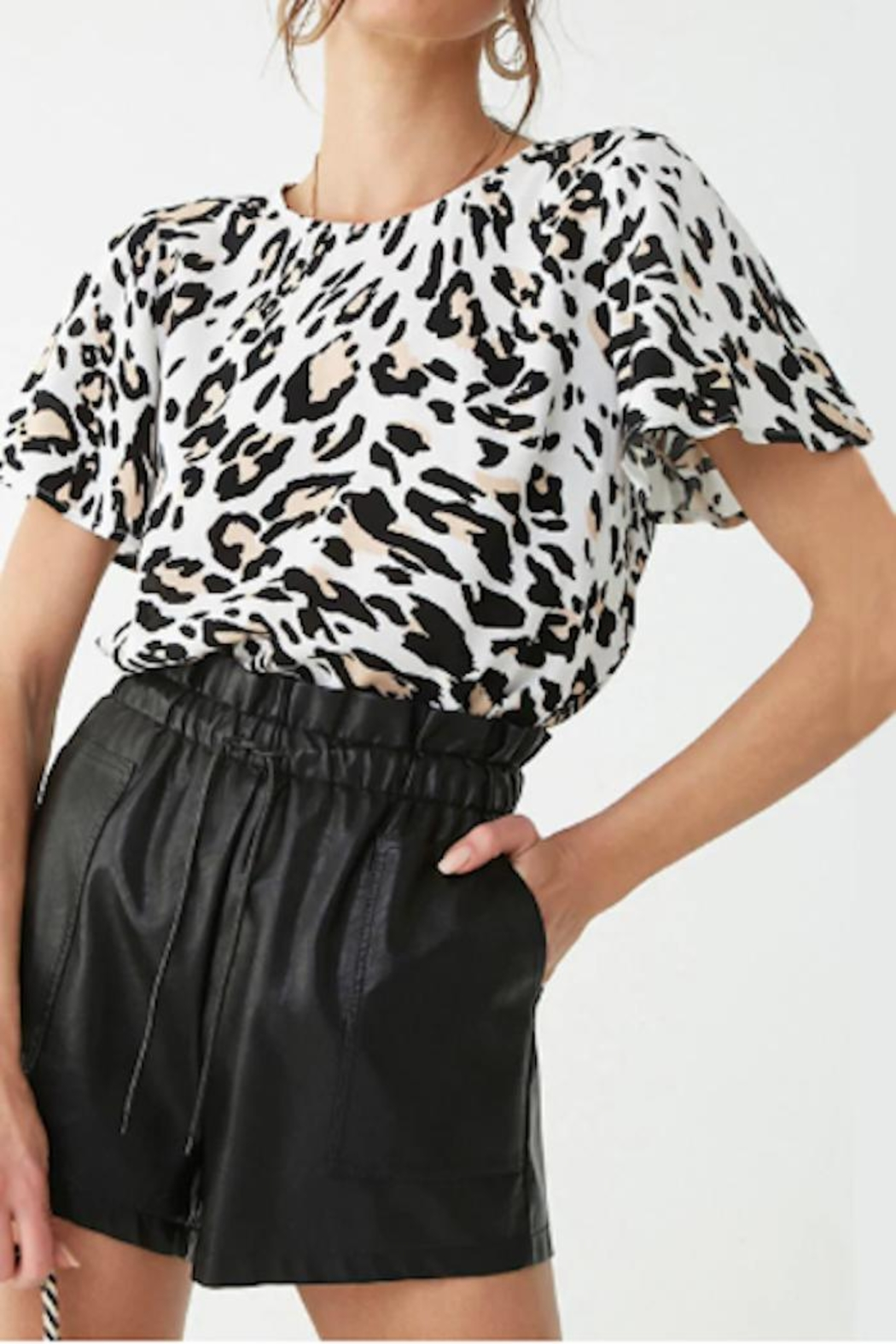 Yipsy Animal Print Top - Front Full Image