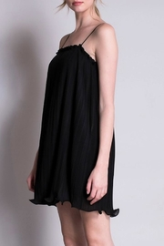 Yipsy Crinkle Black Dress - Front full body