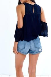 Yipsy Cutout Shoulder Top - Side cropped