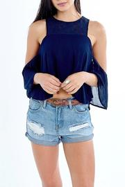 Yipsy Cutout Shoulder Top - Product Mini Image