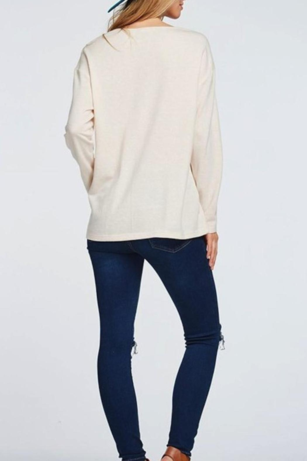 Yipsy Deep V Top - Side Cropped Image