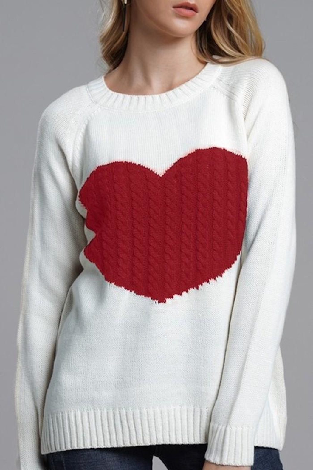 Yipsy Heart Sweater - Side Cropped Image