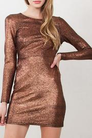 Yipsy Metallic Bodycon Dress - Product Mini Image