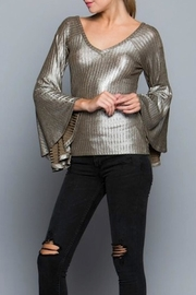Yipsy Metallic Top - Front cropped