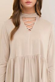 Yipsy Mockneck Peplum Top - Side cropped