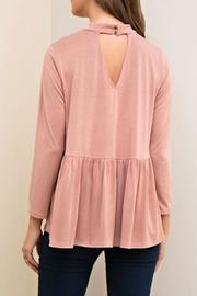 Yipsy Mockneck Peplum Top - Front full body