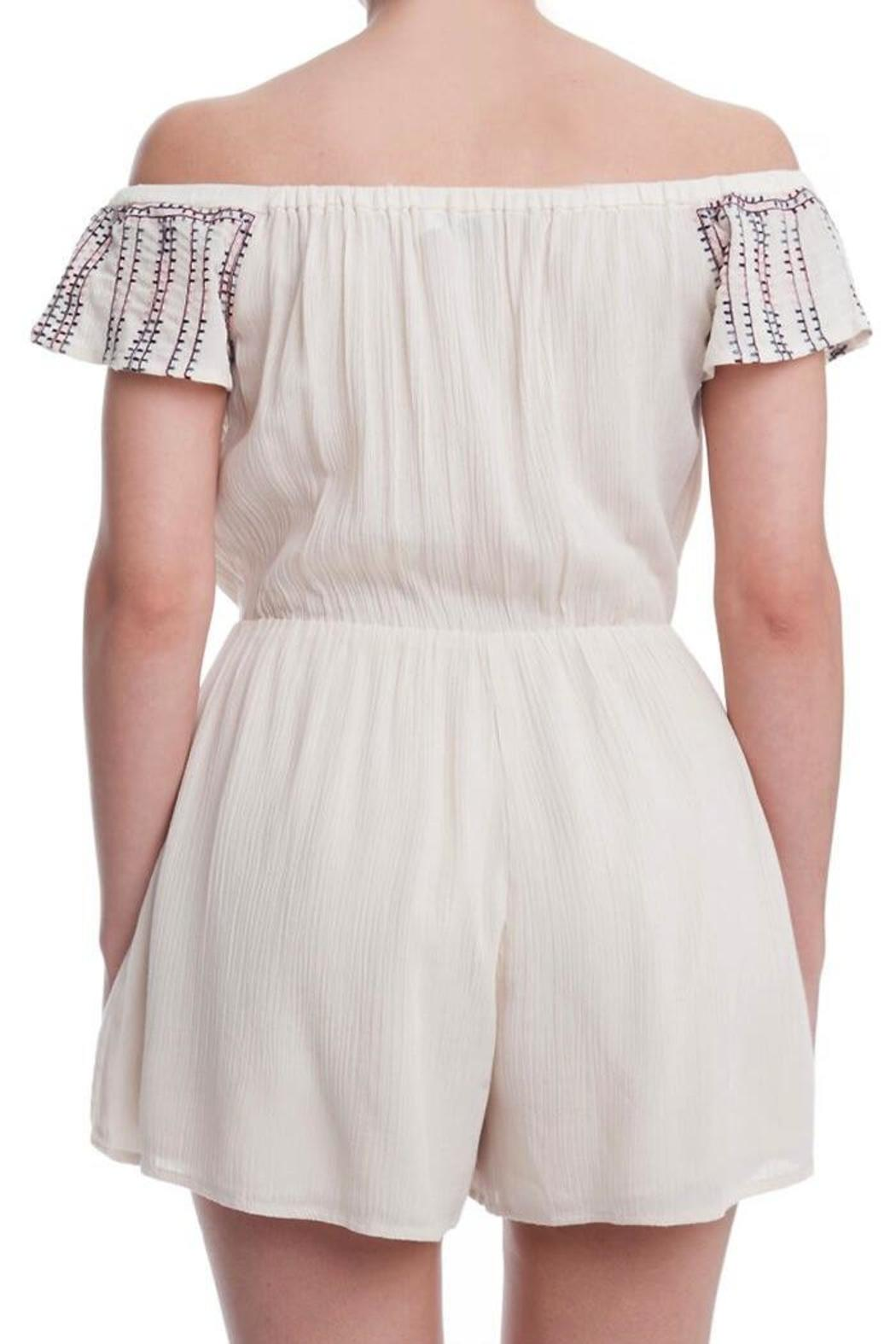 Yipsy Off Shoulder Romper - Front Full Image