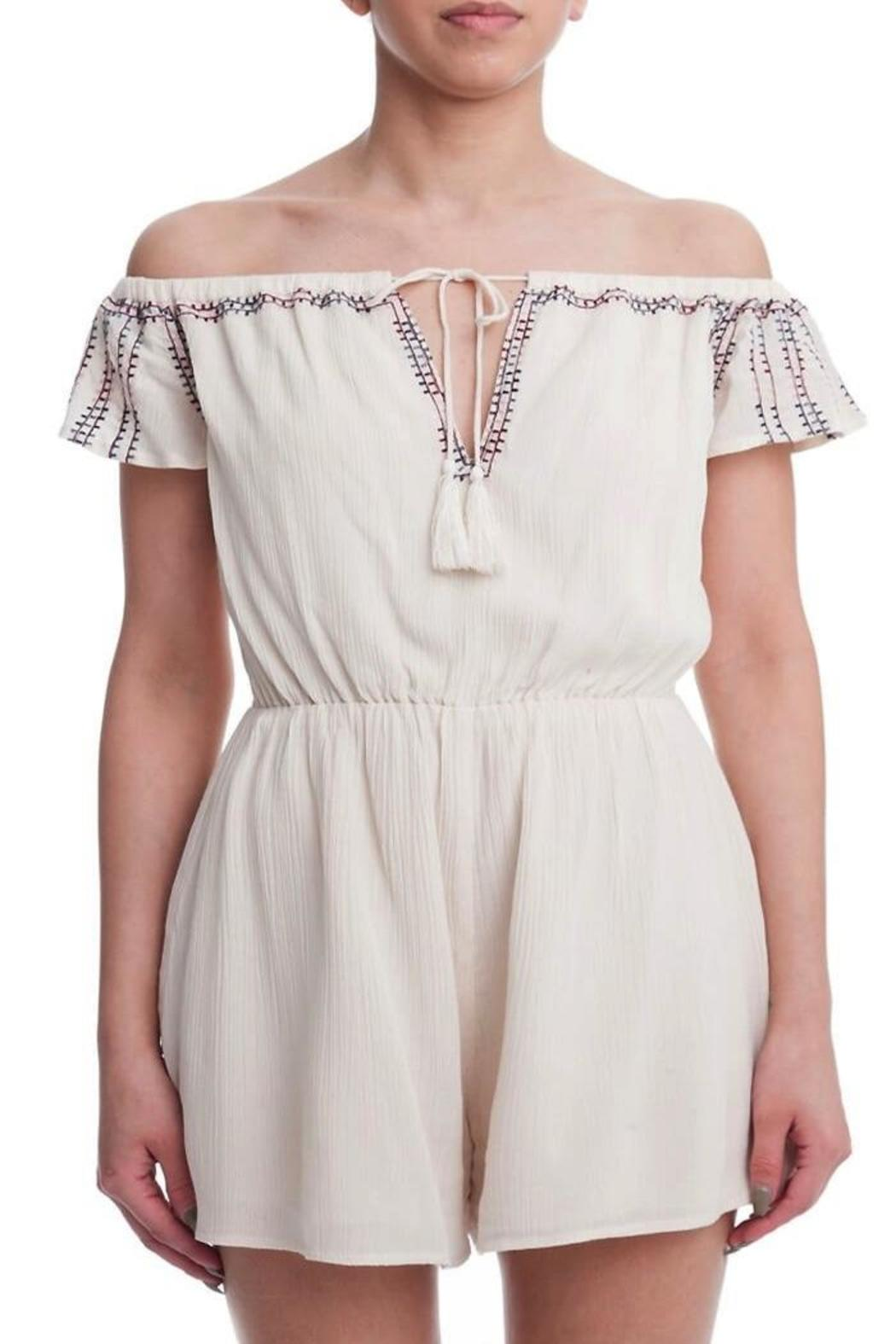 Yipsy Off Shoulder Romper - Front Cropped Image