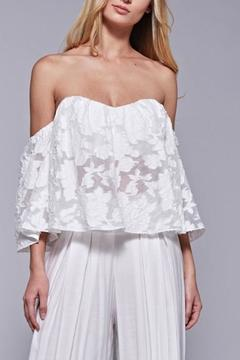 Shoptiques Product: White Floral Lace Top