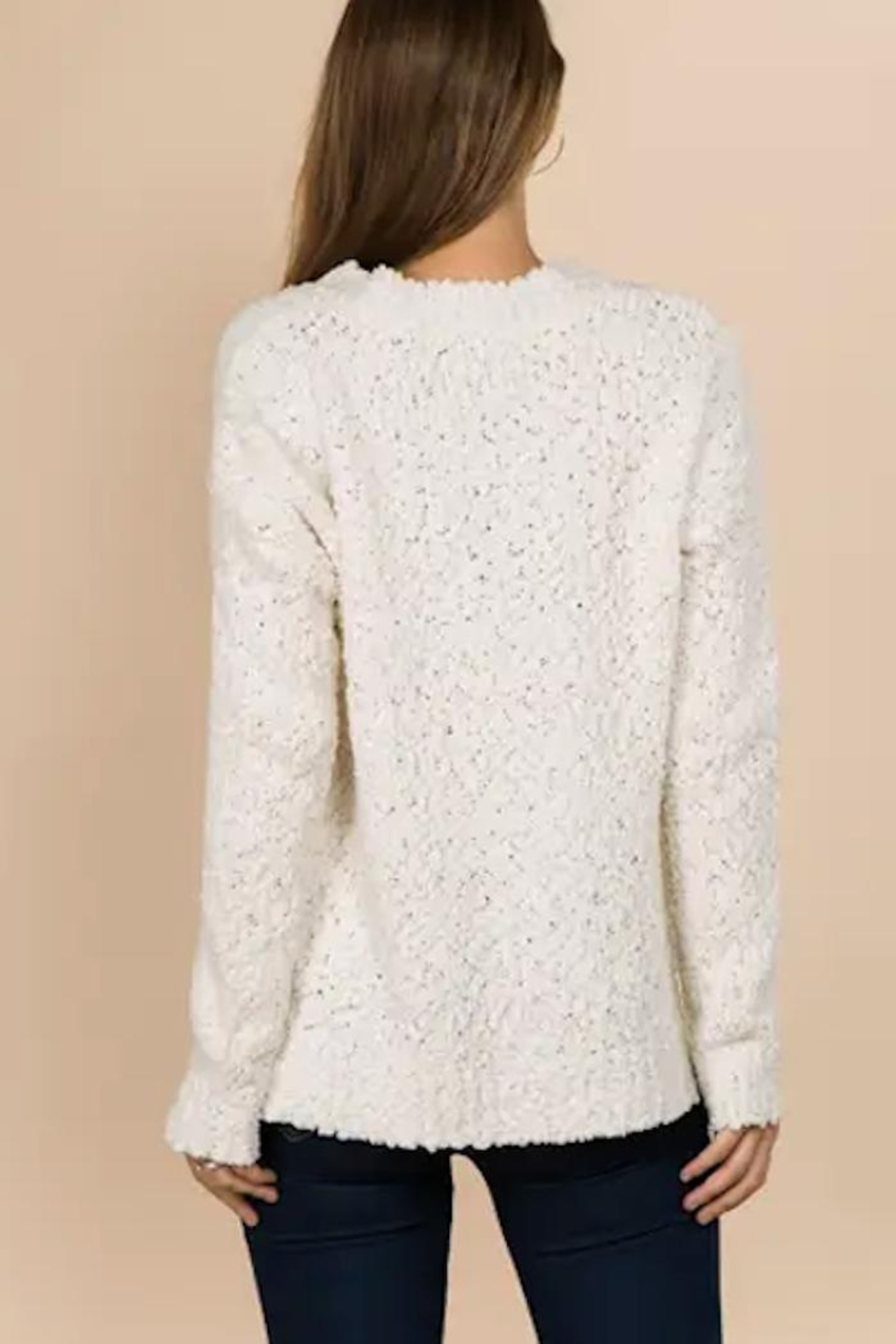 Yipsy Popcorn Knit Sweater - Front Full Image