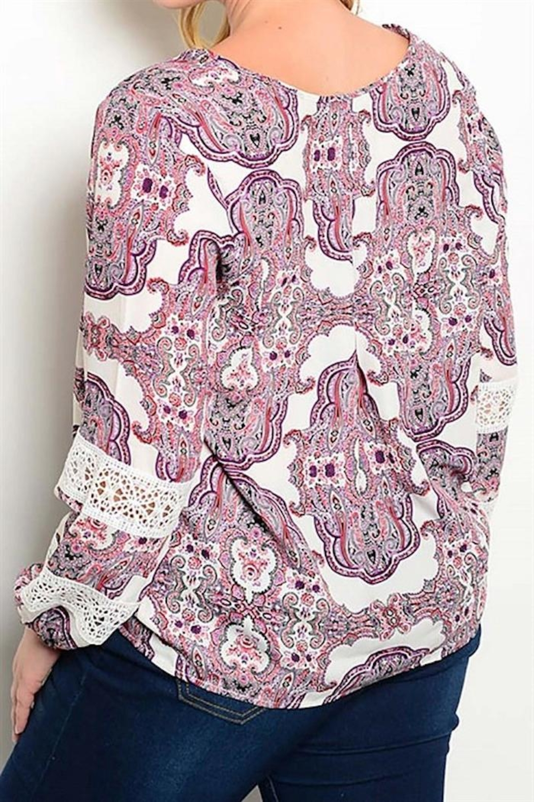 Yipsy Printed Top - Front Full Image